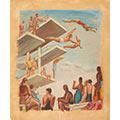Pływalnia, 1939, tempera, karton, 50,3 x 42,3, Muzeum Narodowe w Warszawie, Rys.W.968 MNW