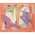 Kompozycja czerwona, 1958, ol., płótno, 60 x 73, Muzeum Narodowe w Warszawie, nr inw. MPW 2488 MNW, fot. K. Wilczyński