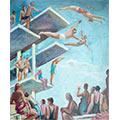 Pływalnia, ok. 1939, ol., tektura,  39,5 x 32, wł. prywatna, fot. M. Jaroszewski