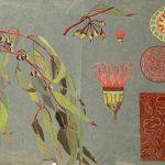 Kwiaty i stylizowane motywy roślinne, szkic studyjny, ok. 1923 – 24, gwasz, papier, wł. prywatna, fot. M. Jaroszewski
