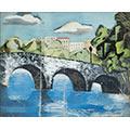 Kamienny most z arkadami, ok. 1930, gwasz, papier, 22 x 26,5, wł. prywatna, fot. M. Jaroszewski