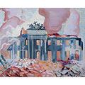 Pałac Dyzmańskich (Branickich), 1939, gwasz, papier, 38,5 x 46,8, wł. prywatna, fot. M. Jaroszewski