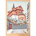 Kościół świętej Anny, gwasz, papier, wł. prywatna, fot. M. Jaroszewski