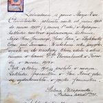 Zaświadczenie ze szkoły Sacré-Cœur w Zbylitowskiej Górze p. Tarnowem z dn. 27 czerwca 1913 r., fot. M. Jaroszewski