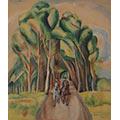 Jeźdźcy (Hyeres), 1932, gwasz, tempera, tektura, 41 x 35, Muzeum Górnośląskie w Bytomiu, nr inw. MGB/Sz 7199, fot. W. Szołtys