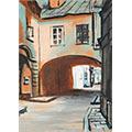 Ulica Kozia, gwasz, papier, 13 x 9, wł. prywatna, fot. M. Jaroszewski