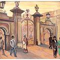 Brama Uniwersytetu Warszawskiego, gwasz, papier, 32 x 35, wł. prywatna, fot. M. Jaroszewski