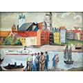 Widok Warszawy od strony Wisły, gwasz, papier, 26,5 x 34,8, wł. prywatna, fot. M. Jaroszewski
