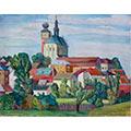 Krajobraz z Miechowa, ok. 1942, gwasz, tektura, 45,7 x 57,7, wł. prywatna, fot. M. Jaroszewski