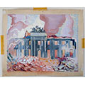 Pożar Pałacu Dyzmańskich w Warszawie, 1939, gwasz, papier, 38,5 x 46,8, wł. prywatna, fot. M. Jaroszewski