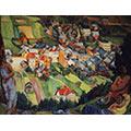Postaci na tle krajobrazu, ok. 1935, ol., płótno, 73 x 91,7, wł. prywatna (?)
