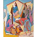 Kobiety, 1949, ol. płótno, 73,3 x 60,3, Muzeum Górnośląskie w Bytomiu, nr inw. MGB/SZ 7250, fot. W. Szołtys