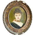 Maria Chmielowska, Autoportret, b.d., ol., płótno, owal 46,5 x 34,5, wł. prywatna, fot. M. Jaroszewski