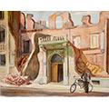 Ulica Kredytowa, 1939, gwasz, papier, 33 x 42 (w świetle passe-partout), wł. prywatna, fot. M. Jaroszewski