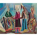 Kobiety (Naprawa sieci), 1949, ol., płótno, 54  x 65, Łódź, Muzeum Sztuki, nr inw. MS/SN/M/660
