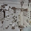 Plac Zamkowy, 1929, obraz zaginiony, szklany negatyw w zbiorach prywatnych