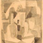 4a Martwa natura (szkic do Martwej natury, 1956, Muzeum Śląska Opolskiego), 1956, tusz, lawowanie, papier, 50,5 x 35, Muzeum Narodowe w Warszawie, nr inw. Rys.W.4284 MNW