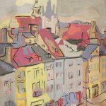 Stare Miasto, 1936, gwasz, tektura, 42,2 x 39,6, Muzeum Narodowe w Warszawie, nr inw. Rys.W.2022 MNW