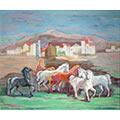 Pejzaż z końmi, 1936 r., ol., płótno, 58,7 x 71, Poznań, Galeria Piekary