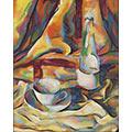 Martwa natura z filiżanką i butelką, ol., płótno, 1932, 42,8 x 35,2, Muzeum Górnośląskie w Bytomiu, nr inw. MGB/Sz7205, fot. W. Szołtys
