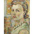 Autoportret w zieleni, ok. 1933, ol., tektura, 45.5 x 35, wł. prywatna, fot. M. Jaroszewski