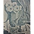 Kwiaty i owoce, ok. 1930, obraz zaginiony, reprodukcja w czasopiśmie Kurier Wileński, 1931, dodatek ilustrowany do nr 37 (15 luty)