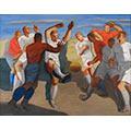 Football, 1936, ol. płótno, 89,5 x 116,5, Muzeum Narodowe w Poznaniu, nr inw. Mp 3045