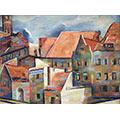 Dachy, ok. 1933, ol., płótno, 25.5 x 35.5, wł. prywatna, fot. M. Jaroszewski