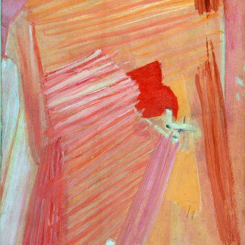 1. Kompozycja różowa, 1960, ol., deska, 37 x 27, Skopje, Museum of Contemporary Art, nr inw.509