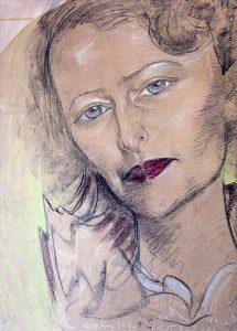 Stanisław Ignacy Witkiewicz, Portret Marii Ewy Łunkiewicz, 1937, pastel, papier, 69,5 x 50, wł. prywatna, fot. M. Jaroszewski